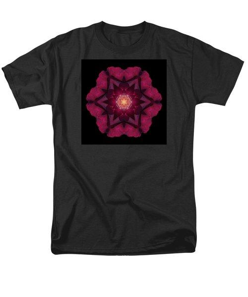 Men's T-Shirt  (Regular Fit) featuring the photograph Beach Rose I Flower Mandala by David J Bookbinder