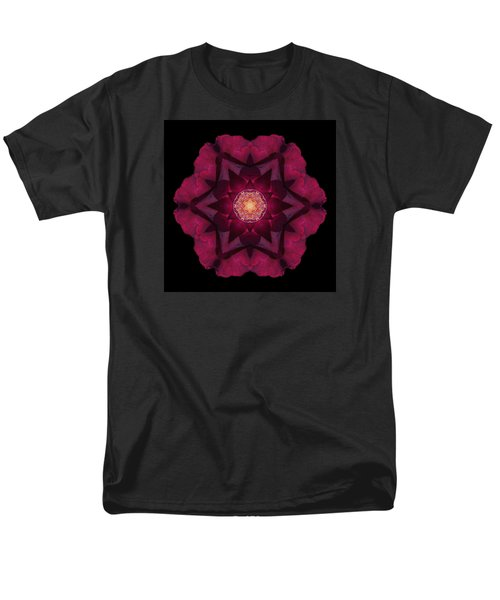 Beach Rose I Flower Mandala Men's T-Shirt  (Regular Fit)
