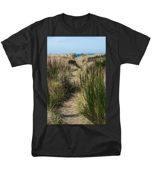 Beach Trail Men's T-Shirt  (Regular Fit) by Tikvah's Hope