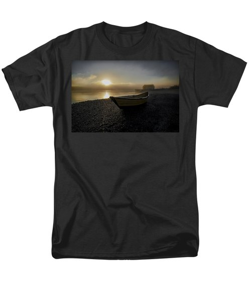 Beached Dory In Lifting Fog  Men's T-Shirt  (Regular Fit) by Marty Saccone