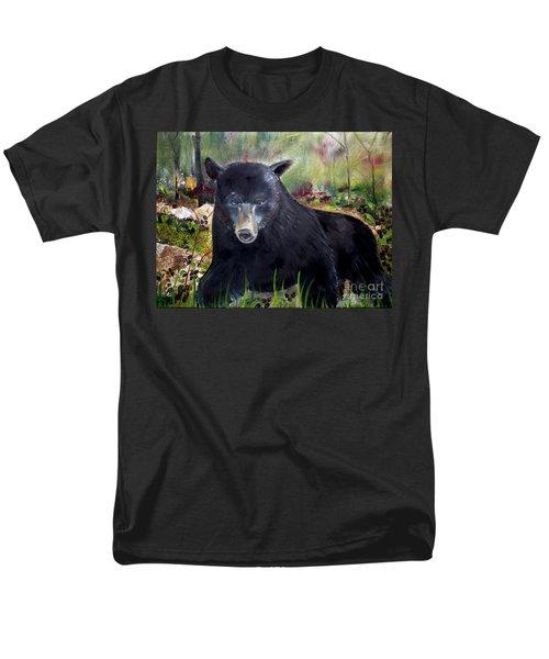 Bear Painting - Blackberry Patch - Wildlife Men's T-Shirt  (Regular Fit) by Jan Dappen