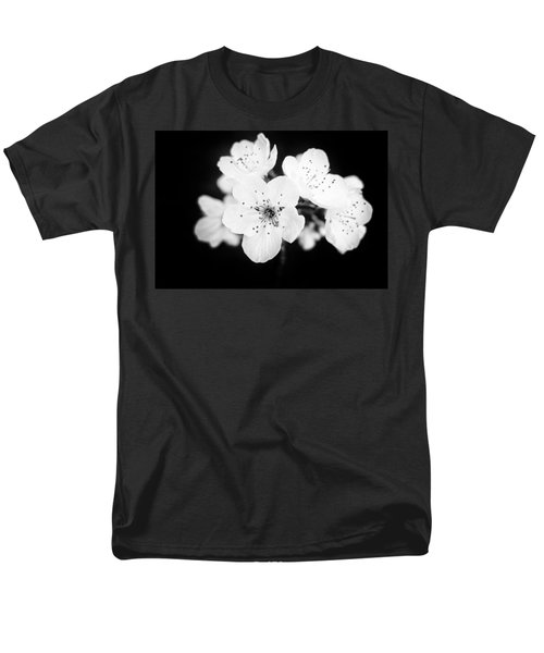 Beautiful Blossoms In Black And White Men's T-Shirt  (Regular Fit) by Matthias Hauser