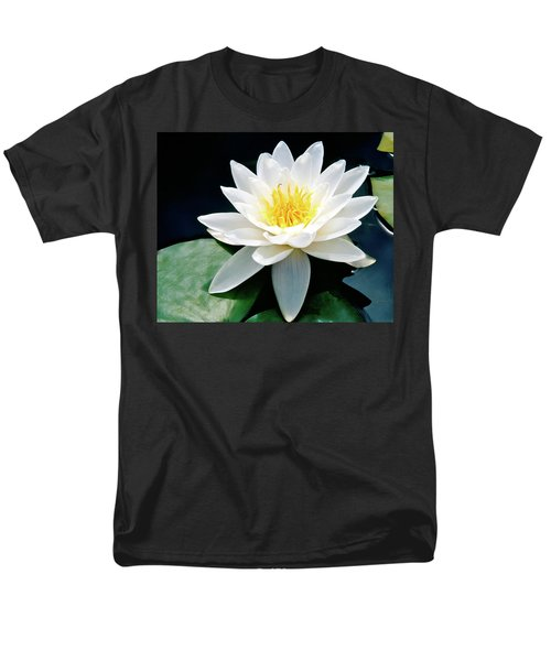Beautiful Water Lily Capture Men's T-Shirt  (Regular Fit) by Ed  Riche
