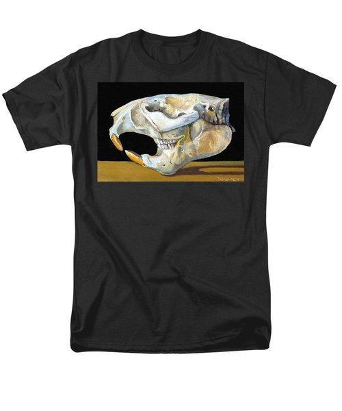 Beaver Skull 1 Men's T-Shirt  (Regular Fit) by Catherine Twomey