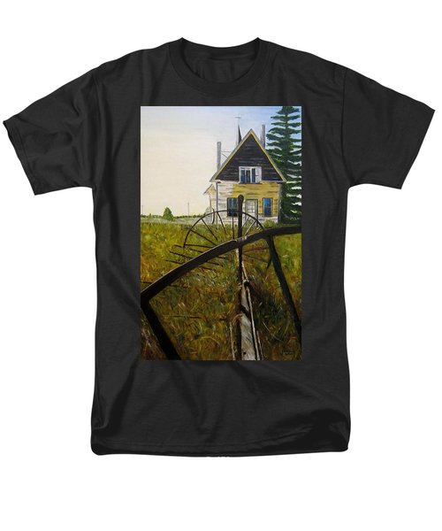 Men's T-Shirt  (Regular Fit) featuring the painting Behind The Old Church by Marilyn  McNish
