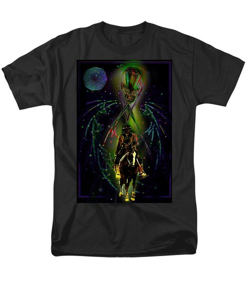 Men's T-Shirt  (Regular Fit) featuring the digital art Behold The Pale Rider  by Hartmut Jager