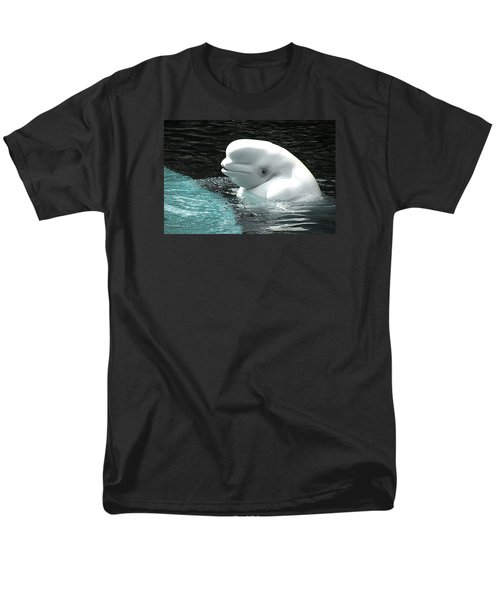 Beluga Whale Men's T-Shirt  (Regular Fit) by Brian Chase