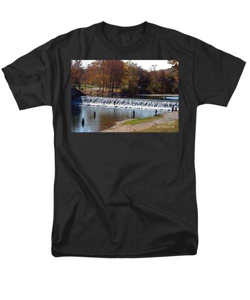 Men's T-Shirt  (Regular Fit) featuring the photograph Bennett Springs Spillway by Sara  Raber
