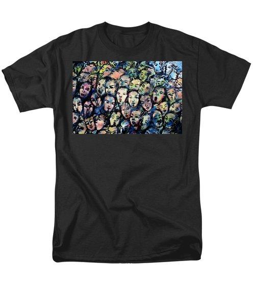 Berlin Wall Graffiti  Men's T-Shirt  (Regular Fit) by Anthony Dezenzio