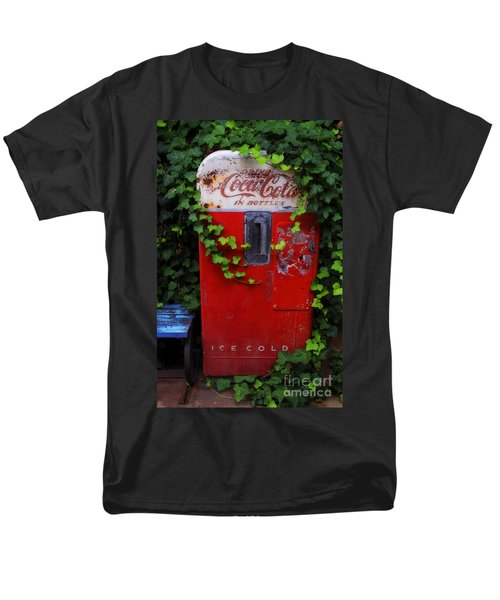 Austin Texas - Coca Cola Vending Machine - Luther Fine Art Men's T-Shirt  (Regular Fit) by Luther Fine Art