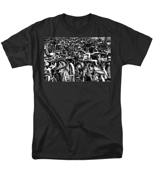 Men's T-Shirt  (Regular Fit) featuring the photograph Sea Of Bicycles- Karlsruhe Germany by Joey Agbayani