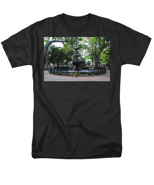 Bienville Fountain Mobile Alabama Men's T-Shirt  (Regular Fit) by Michael Thomas