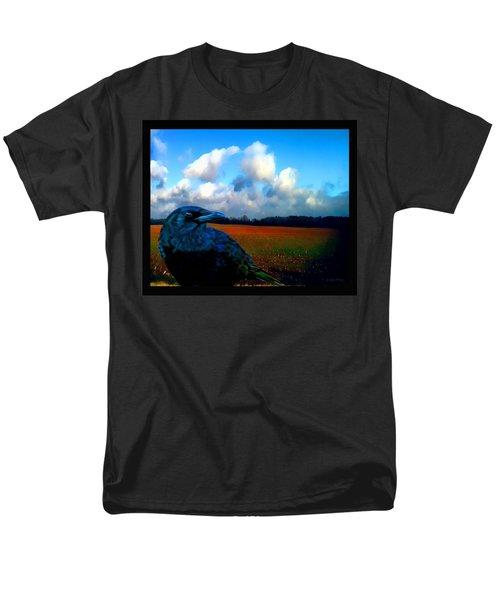 Big Daddy Crow Series Silent Watcher Men's T-Shirt  (Regular Fit) by Lesa Fine