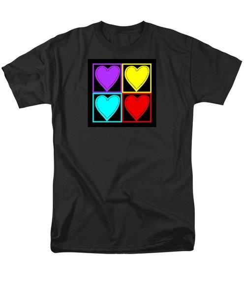 Big Hearts I Men's T-Shirt  (Regular Fit) by Marianne Campolongo