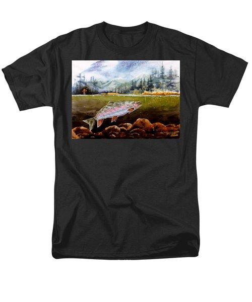 Big Thompson Trout Men's T-Shirt  (Regular Fit) by Craig T Burgwardt