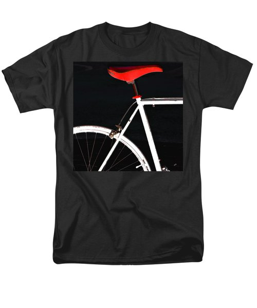 Bike In Black White And Red No 1 Men's T-Shirt  (Regular Fit) by Ben and Raisa Gertsberg