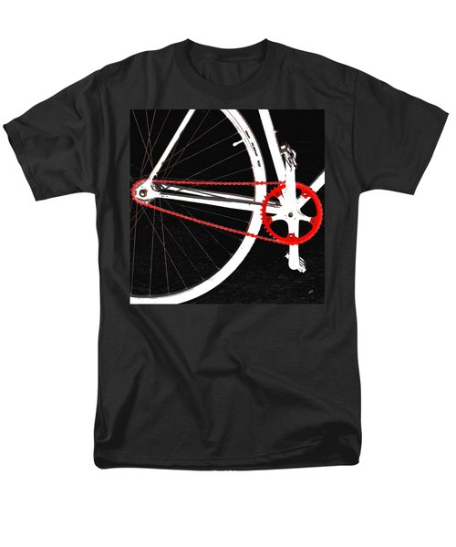 Bike In Black White And Red No 2 Men's T-Shirt  (Regular Fit) by Ben and Raisa Gertsberg