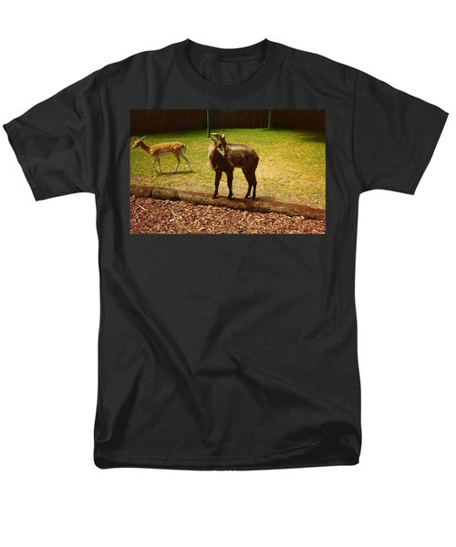 Billy Goat Keeping Lookout Men's T-Shirt  (Regular Fit) by Amazing Photographs AKA Christian Wilson