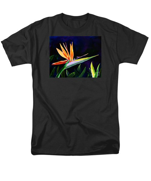 Men's T-Shirt  (Regular Fit) featuring the painting Bird Of Paradise by AnnaJo Vahle