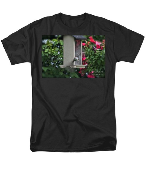 Men's T-Shirt  (Regular Fit) featuring the photograph Bird Time To Fly by Thomas Woolworth