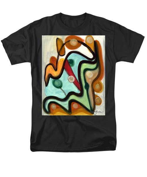 Men's T-Shirt  (Regular Fit) featuring the painting Birds In Flight by Stephen Lucas