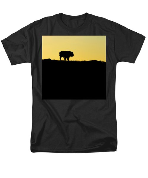 Men's T-Shirt  (Regular Fit) featuring the photograph Bison Sunrise by Sonya Lang