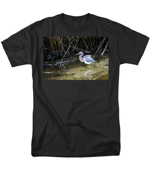 Bittern At Dusk  Men's T-Shirt  (Regular Fit) by Mary Ward