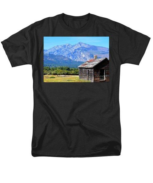 Men's T-Shirt  (Regular Fit) featuring the photograph Bitterroot Valley Cabin by Joseph J Stevens