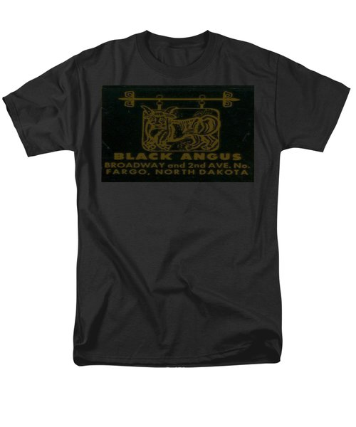 Men's T-Shirt  (Regular Fit) featuring the digital art Black Angus by Cathy Anderson