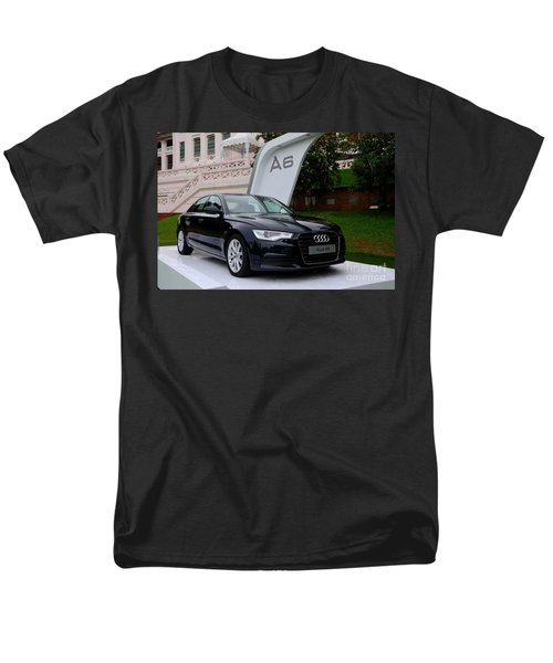 Black Audi A6 Classic Saloon Car Men's T-Shirt  (Regular Fit) by Imran Ahmed