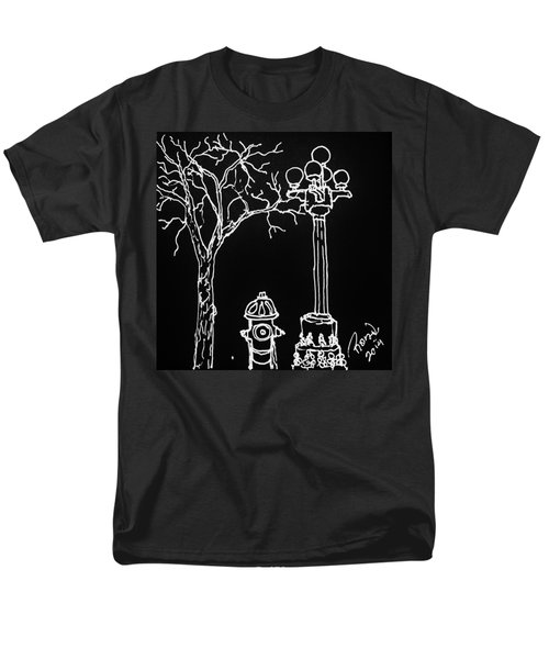 Men's T-Shirt  (Regular Fit) featuring the drawing Black Book 08 by Rand Swift