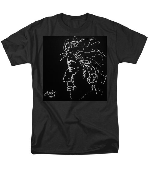 Men's T-Shirt  (Regular Fit) featuring the drawing Black Book 10 by Rand Swift