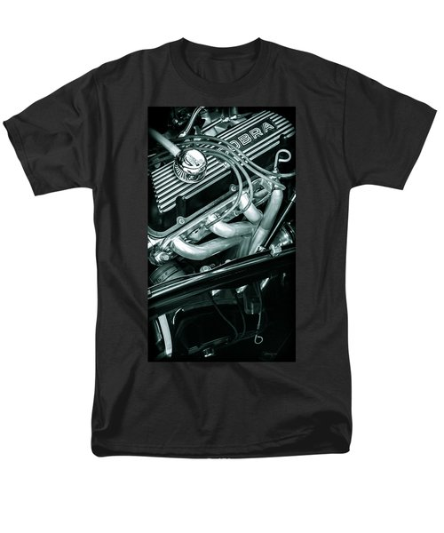 Men's T-Shirt  (Regular Fit) featuring the photograph Black Cobra - Ford Cobra Engines by Steven Milner