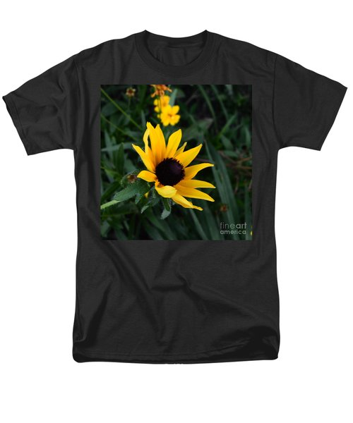 Men's T-Shirt  (Regular Fit) featuring the photograph Black-eyed Susan Glows With Cheer by Luther Fine Art