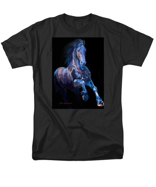 Black Horse In Black Men's T-Shirt  (Regular Fit)
