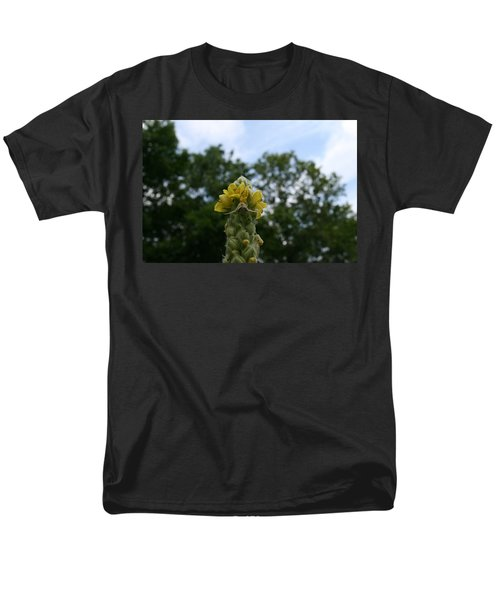 Men's T-Shirt  (Regular Fit) featuring the photograph Blended Golden Rod Crab Spider On Mullein Flower by Neal Eslinger