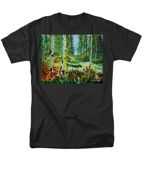 Men's T-Shirt  (Regular Fit) featuring the painting Bliss by Leslie Allen