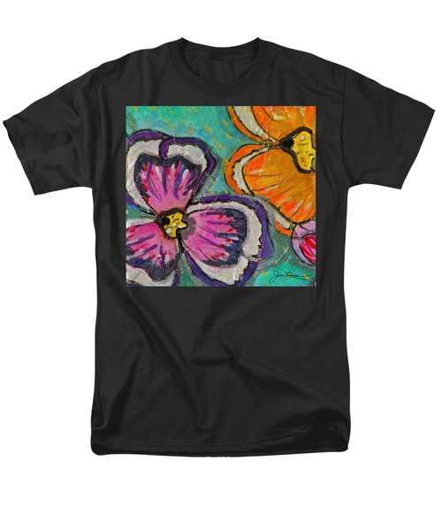 Men's T-Shirt  (Regular Fit) featuring the painting Blooming Flowers by Joan Reese