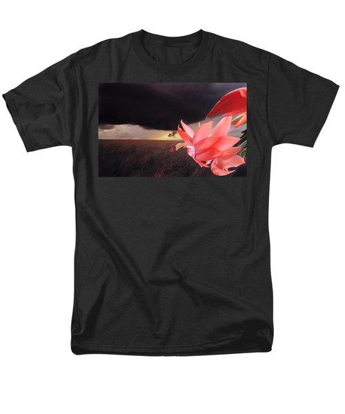 Blooms Against Tornado Men's T-Shirt  (Regular Fit) by Katie Wing Vigil
