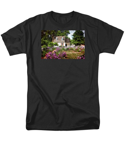 Blue Cottage Men's T-Shirt  (Regular Fit) by Shari Nees