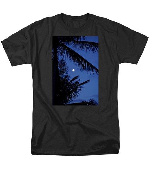 Men's T-Shirt  (Regular Fit) featuring the photograph Blue Dawn Moon by Lehua Pekelo-Stearns
