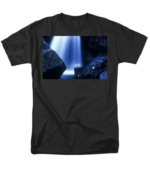 Men's T-Shirt  (Regular Fit) featuring the photograph Blue Falls by Rodney Lee Williams