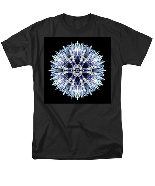Blue Globe Thistle Flower Mandala Men's T-Shirt  (Regular Fit)