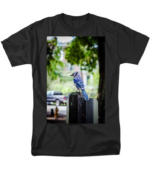 Men's T-Shirt  (Regular Fit) featuring the photograph Blue Jay by Sennie Pierson