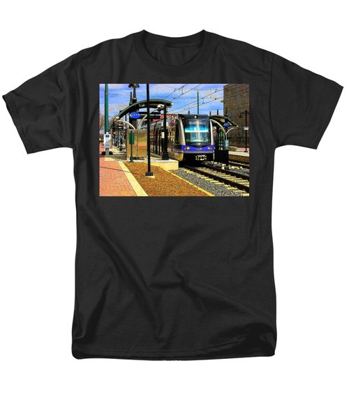 Men's T-Shirt  (Regular Fit) featuring the photograph Blue Line by Rodney Lee Williams