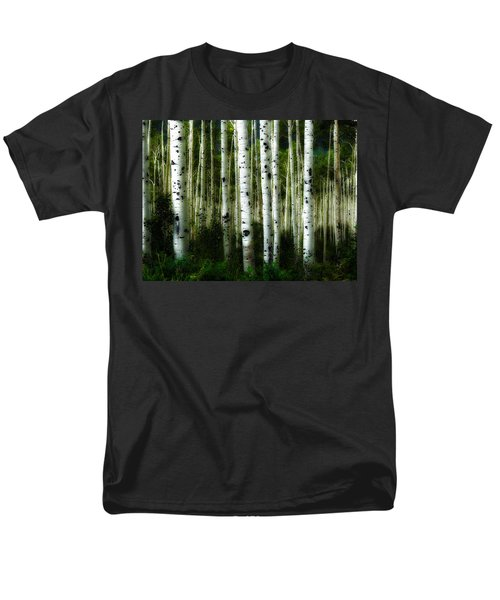 Men's T-Shirt  (Regular Fit) featuring the photograph Blue Mood Aspens I by Lanita Williams