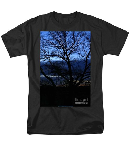 Men's T-Shirt  (Regular Fit) featuring the photograph Blue Moon Sunrise by PainterArtist FIN