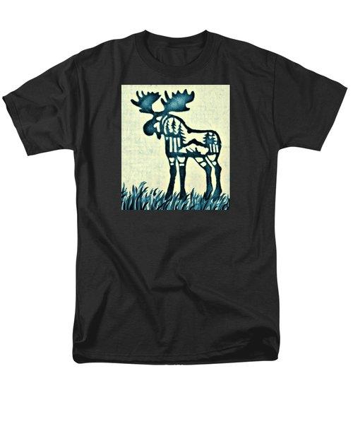Blue Moose Men's T-Shirt  (Regular Fit) by Larry Campbell