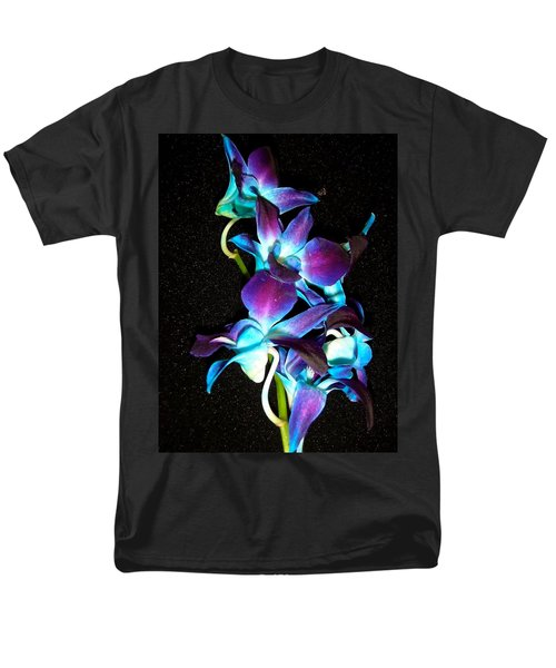 Blue Orchids Men's T-Shirt  (Regular Fit) by Stephanie Moore