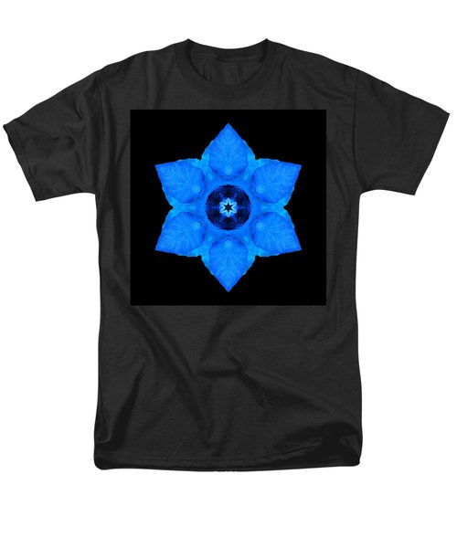 Blue Pansy II Flower Mandala Men's T-Shirt  (Regular Fit)